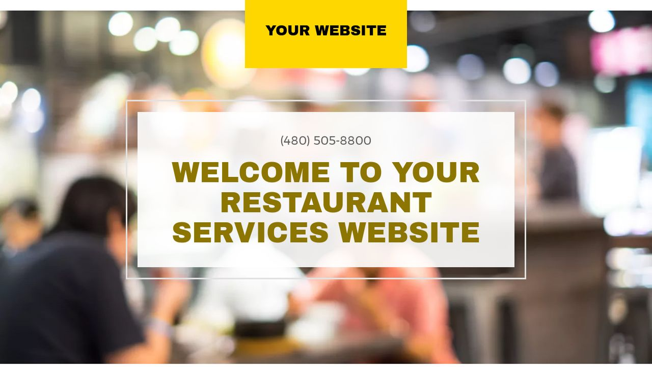 Restaurant Services Website: Example 5