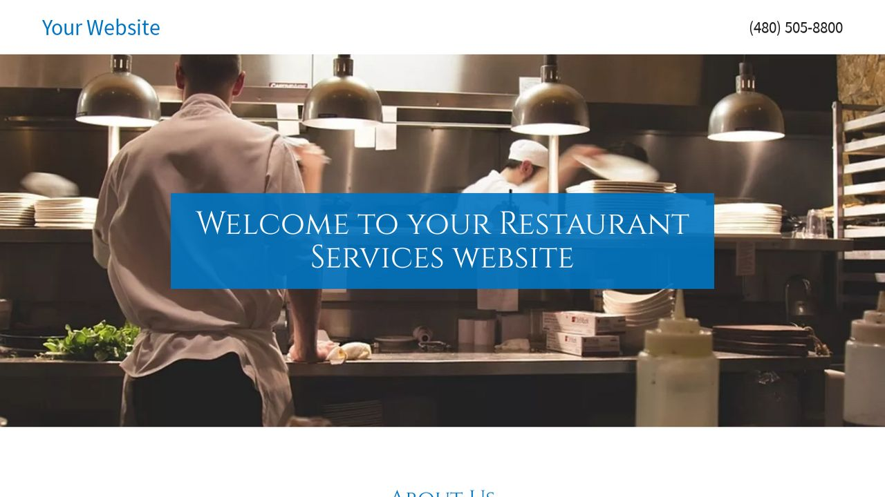 Restaurant Services Website: Example 8