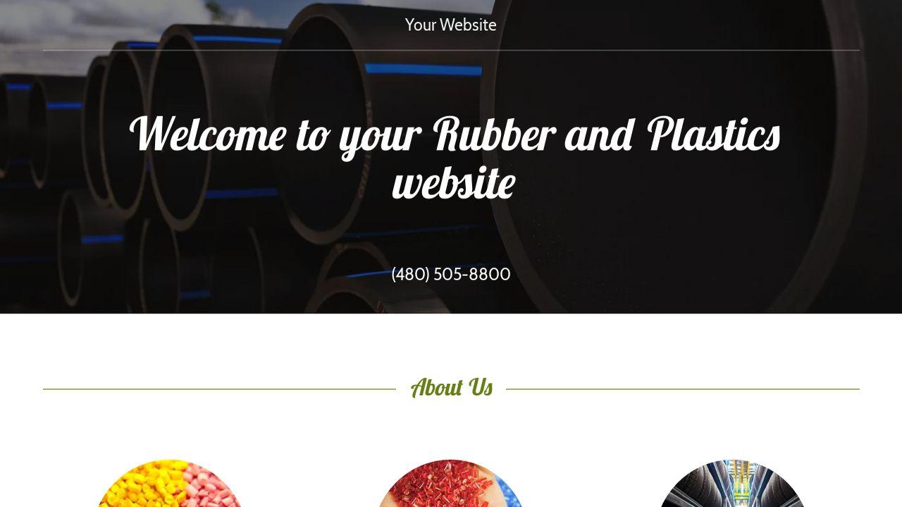 rubber and plastics website templates godaddy. Black Bedroom Furniture Sets. Home Design Ideas
