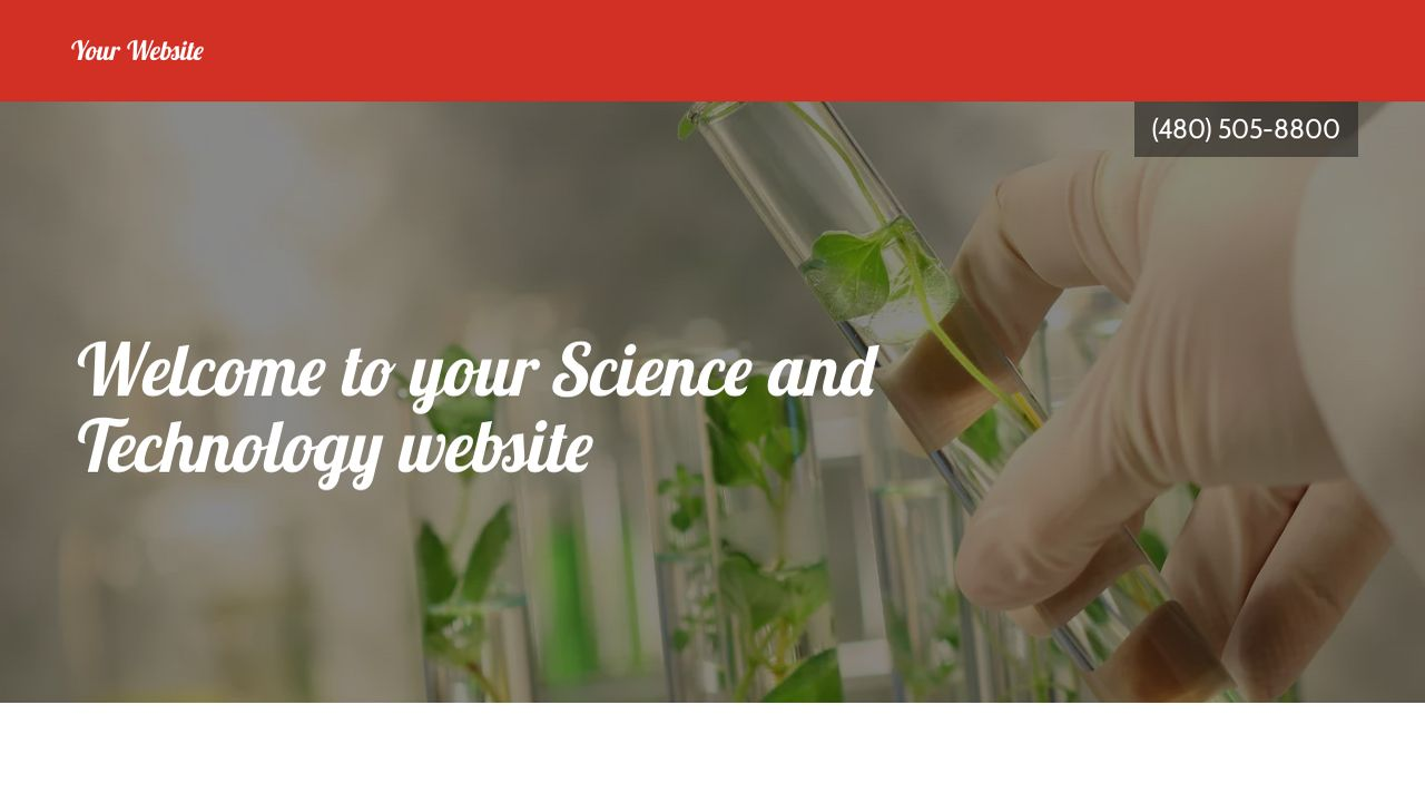 Science and Technology Website: Example 11