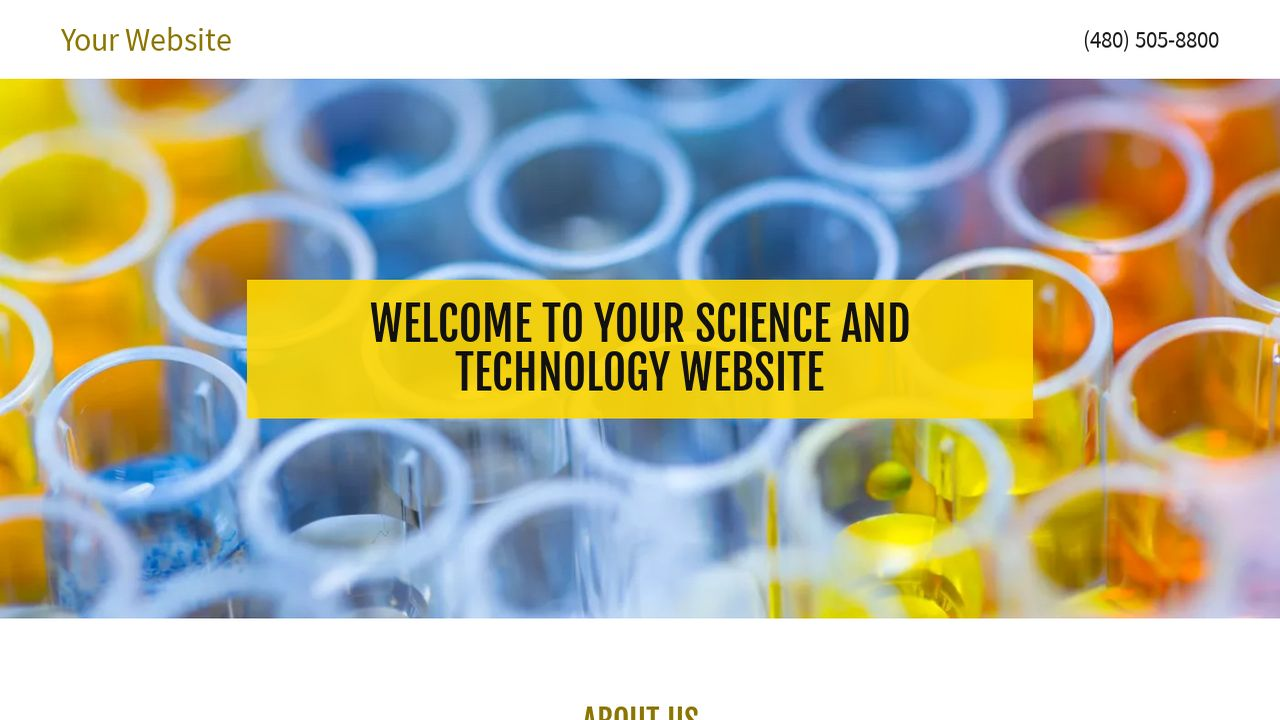 Science and Technology Website: Example 12