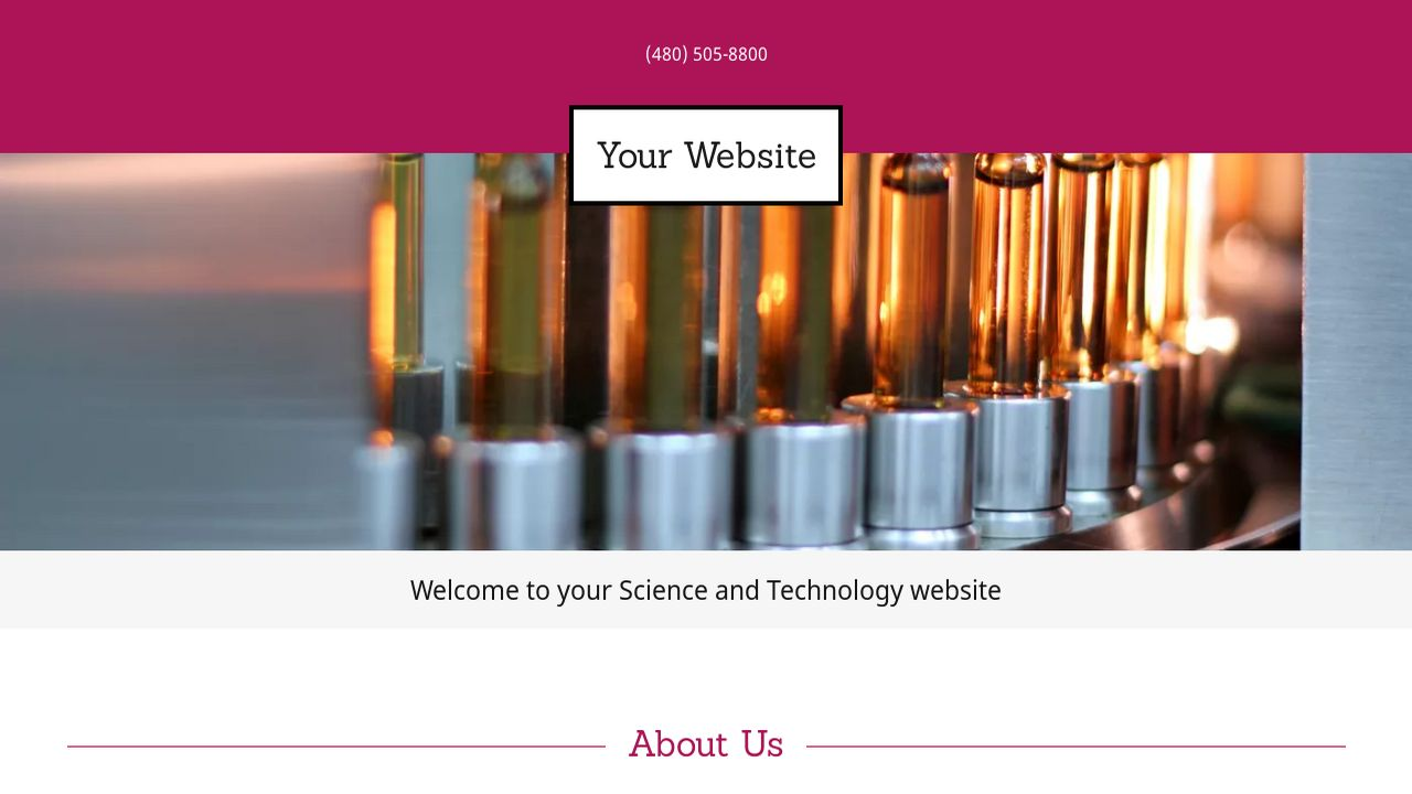 Science and Technology Website: Example 16