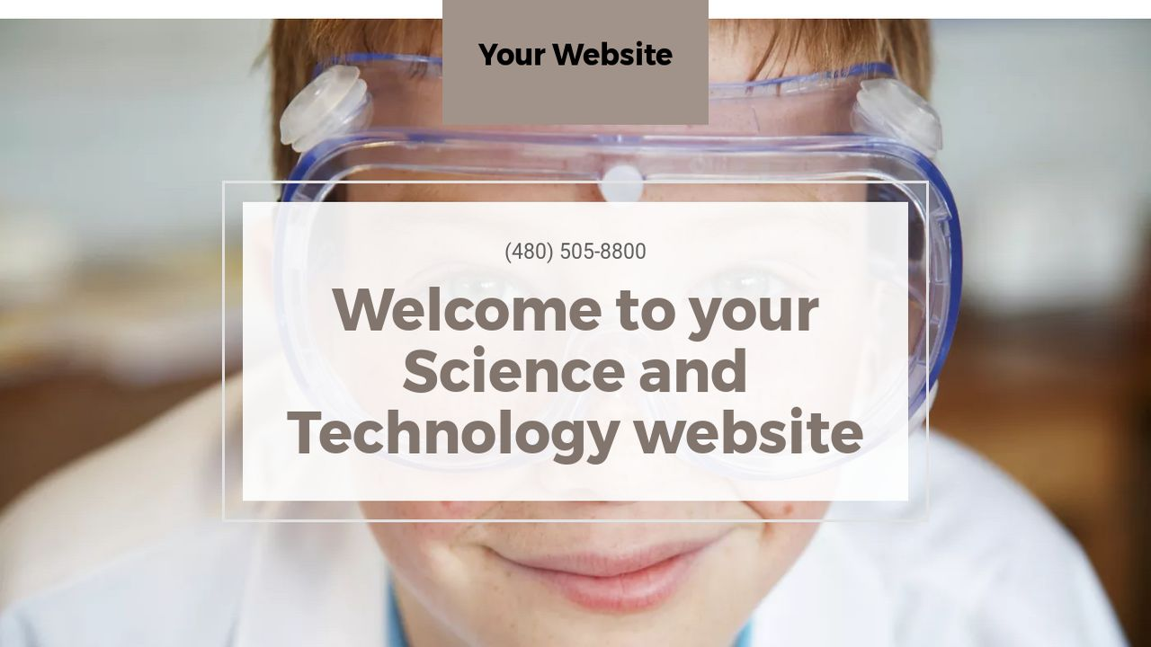 Science and Technology Website: Example 17