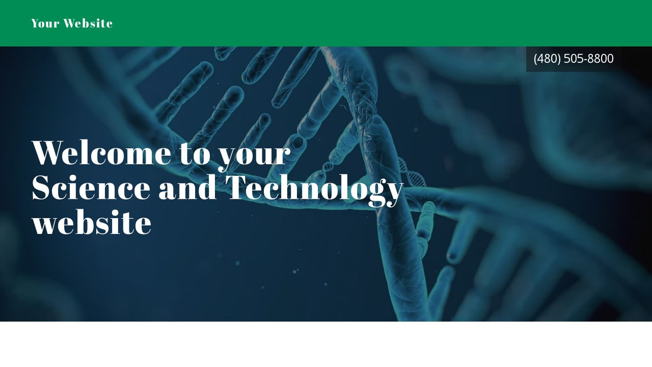 Science and Technology Website: Example 18
