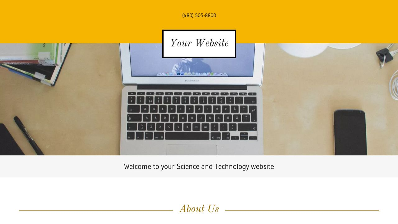 Science and Technology Website: Example 2