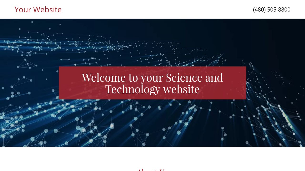Science and Technology Website: Example 5