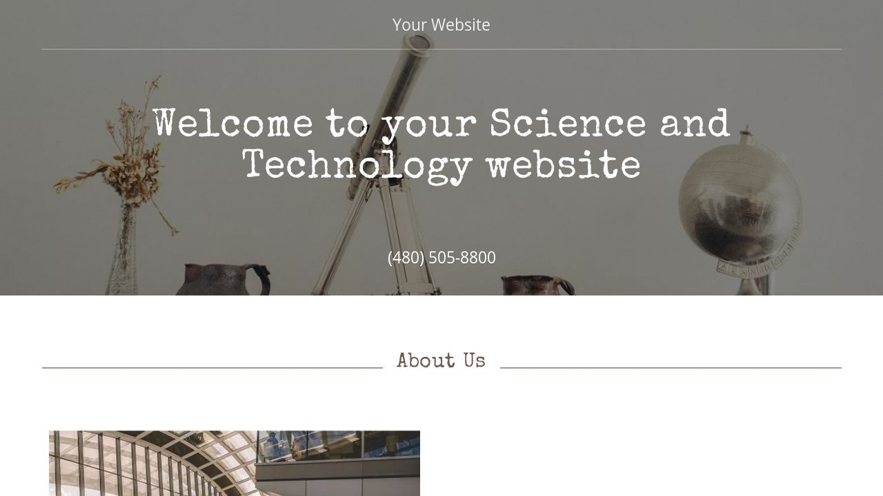 Science and Technology Website: Example 7