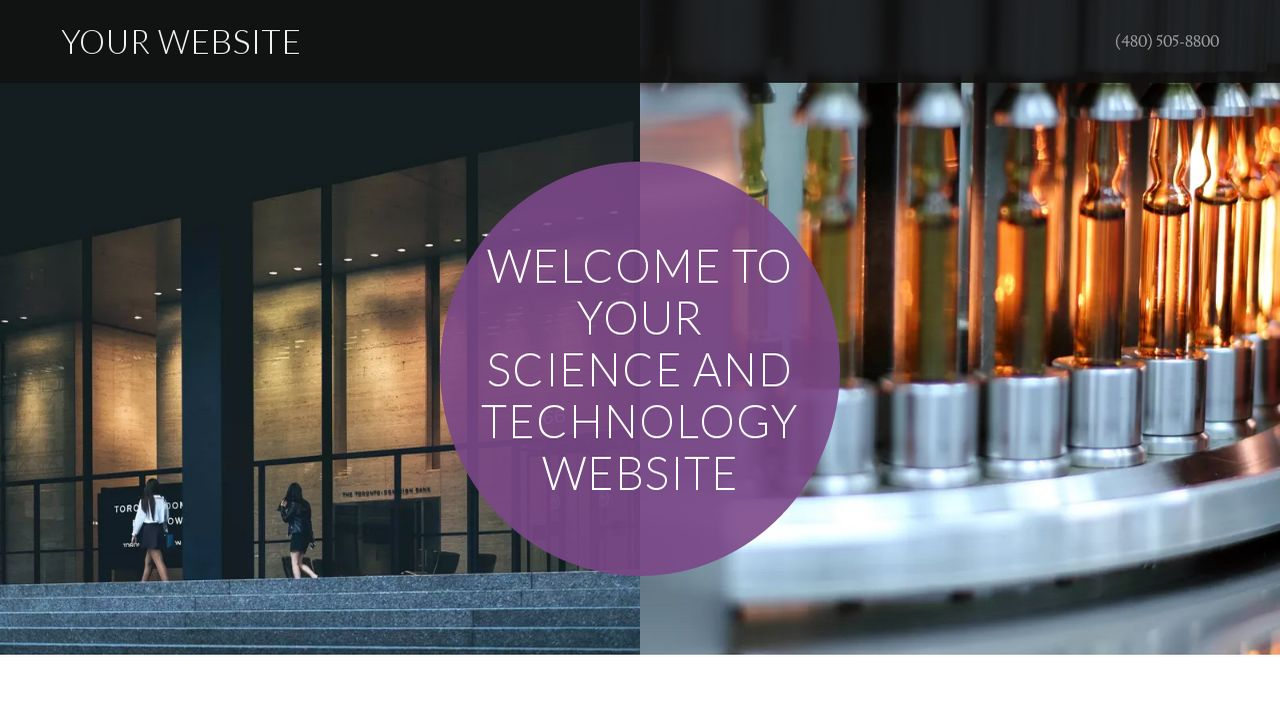 Science and Technology Website: Example 8