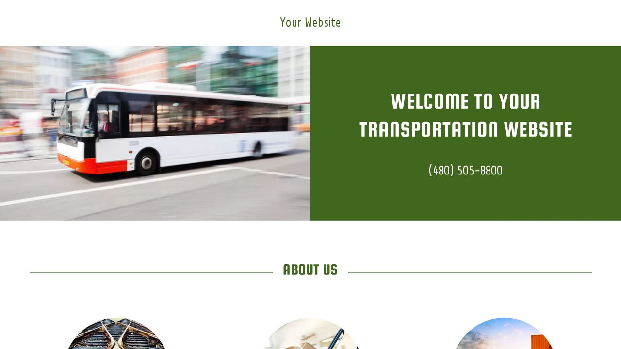 Transportation Website: Example 7