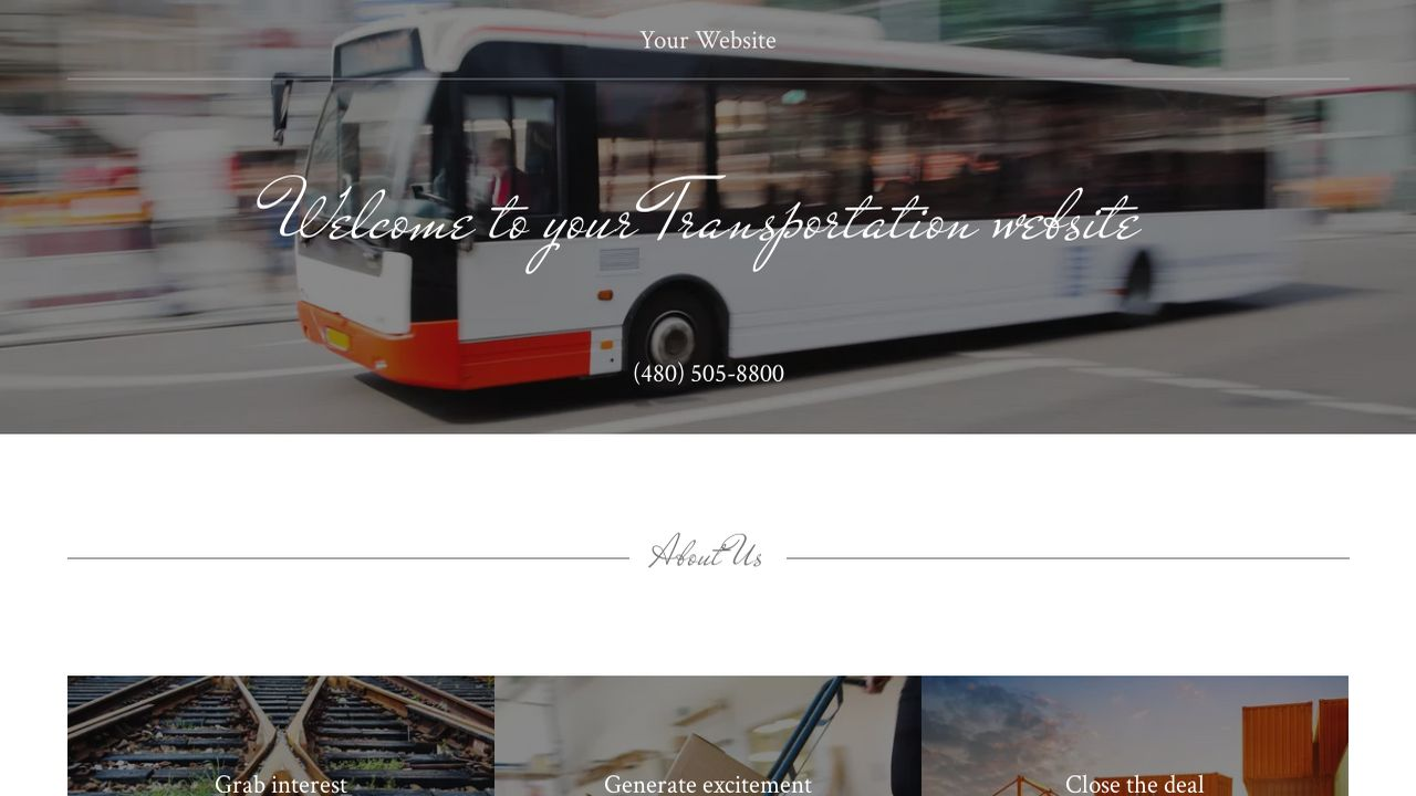 Transportation Website: Example 8