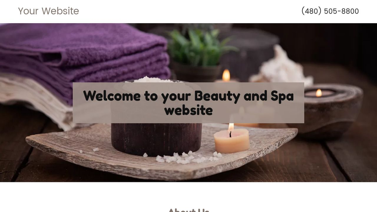 beauty and spa website templates godaddy