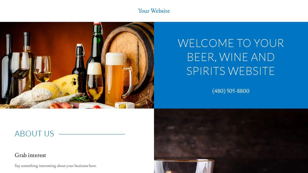 Beer wine and spirits website templates godaddy beer wine and spirits example 10 pronofoot35fo Gallery