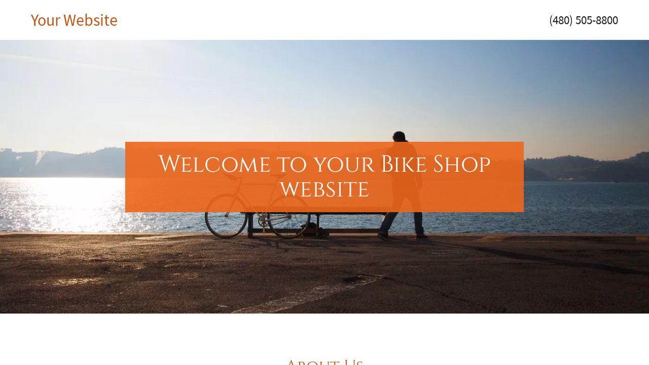example 3 bike shop website template godaddy. Black Bedroom Furniture Sets. Home Design Ideas