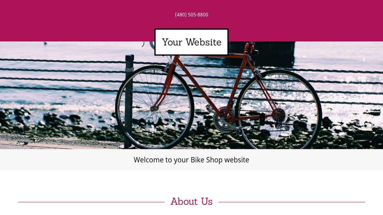 example 16 bike shop website template godaddy. Black Bedroom Furniture Sets. Home Design Ideas