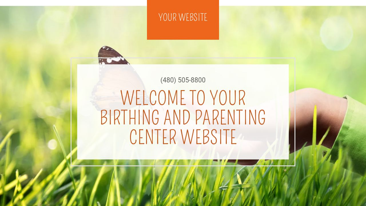 Birthing and Parenting Center Website: Example 10