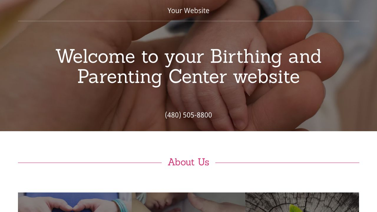 Birthing and Parenting Center Website: Example 14