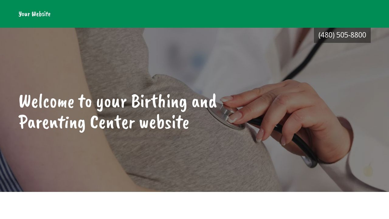 Birthing and Parenting Center Website: Example 16