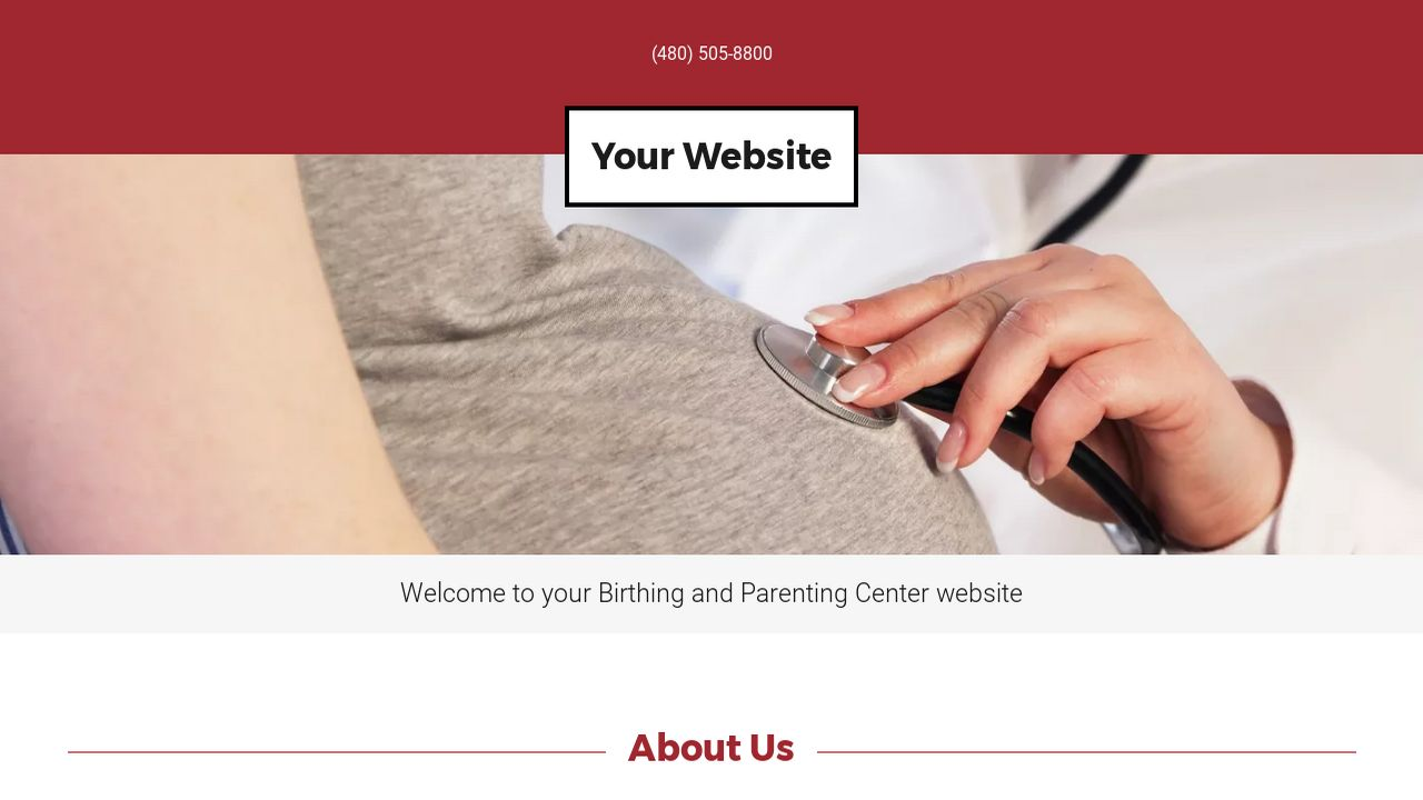 Birthing and Parenting Center Website: Example 5