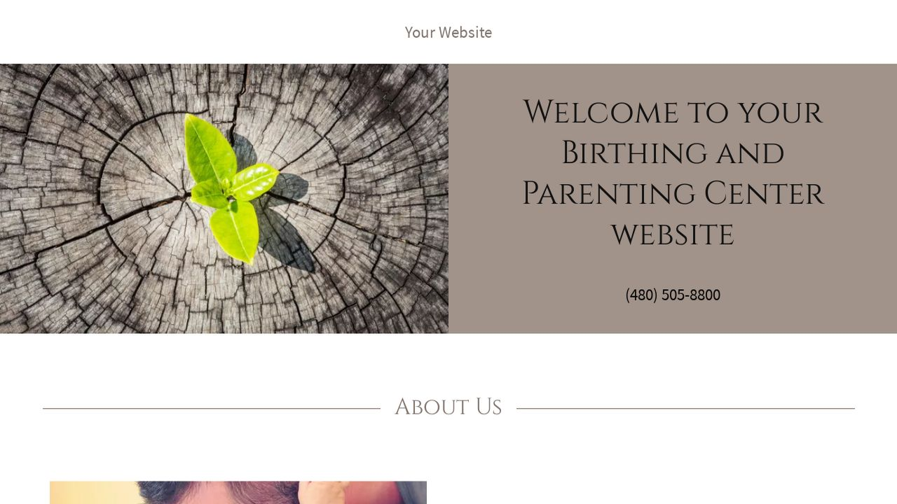 Birthing and Parenting Center Website: Example 8