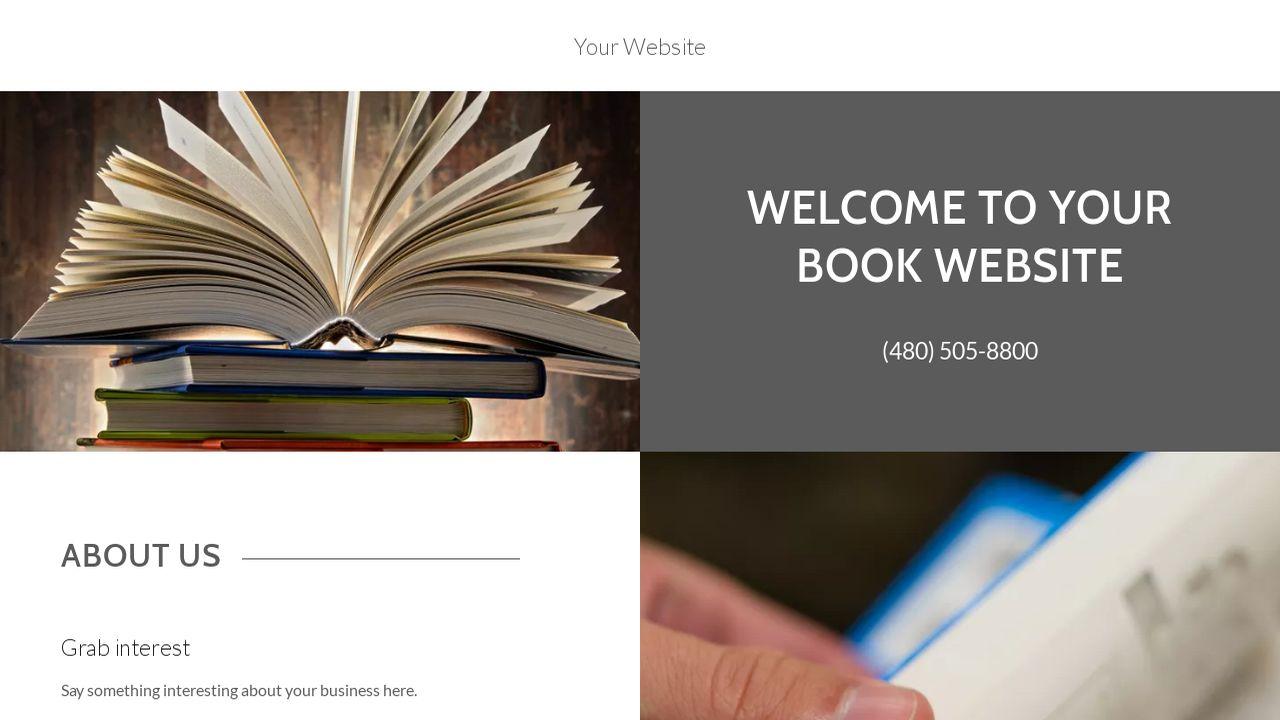 book website templates godaddy