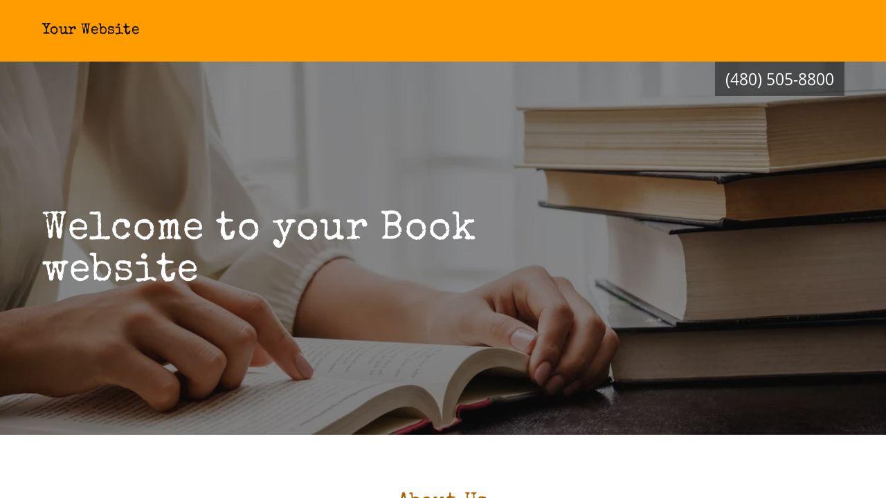 Book Website Templates | GoDaddy