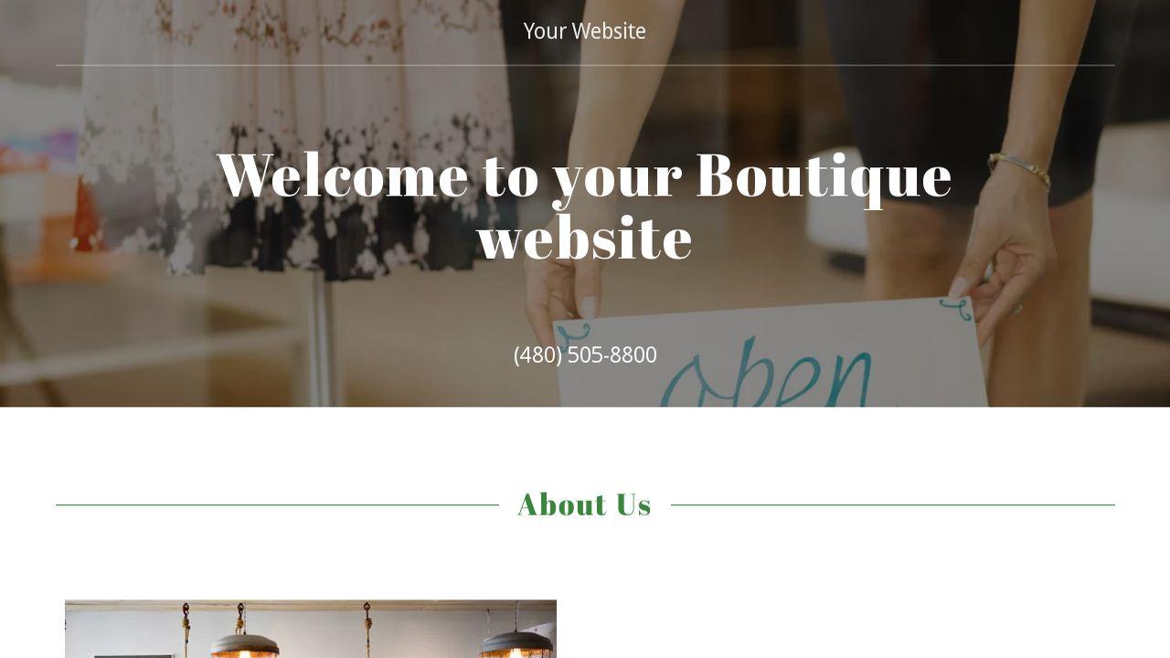 boutique website templates godaddy