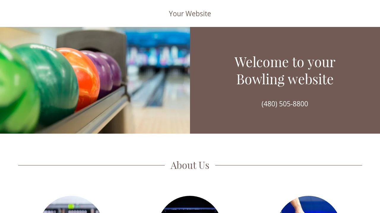 godaddy ecommerce templates - bowling website templates godaddy