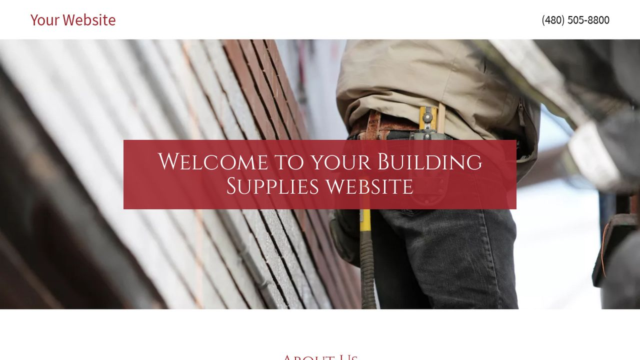 Building Supplies Website: Example 10