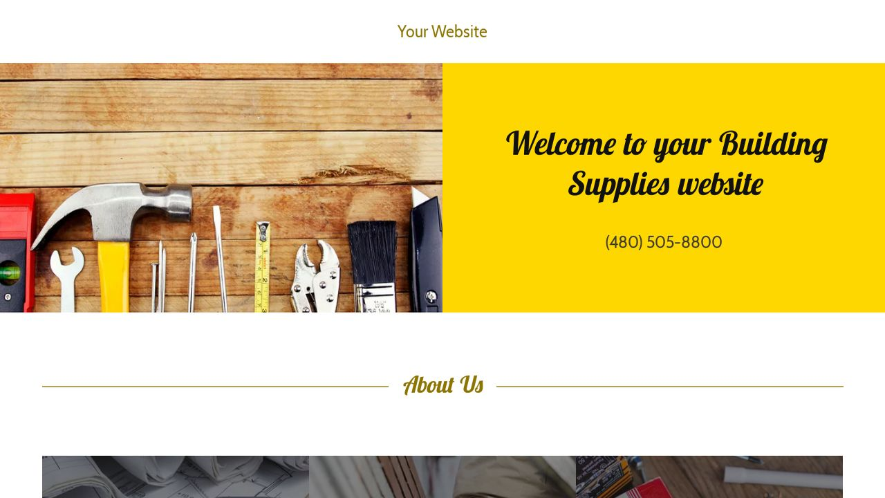 Building Supplies Website: Example 11