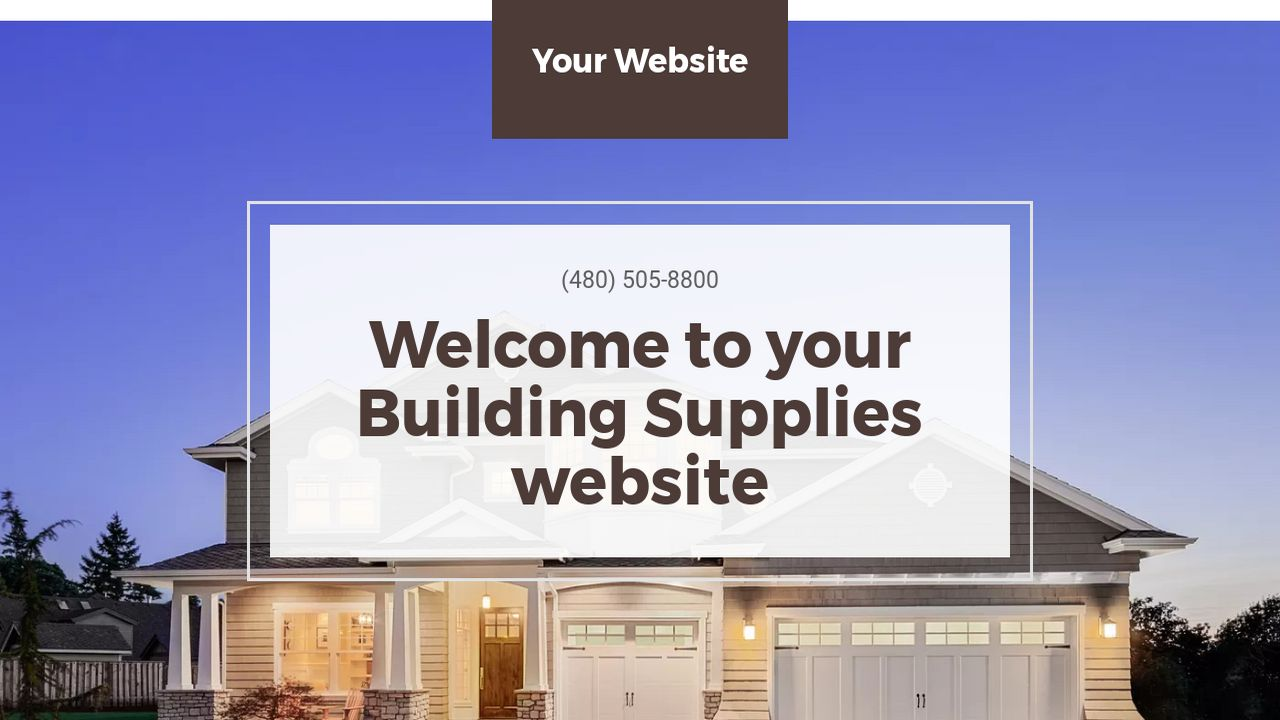 Building Supplies Website: Example 12