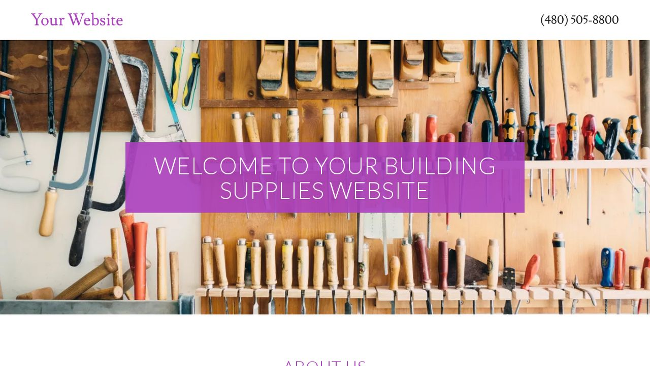 Building Supplies Website: Example 17