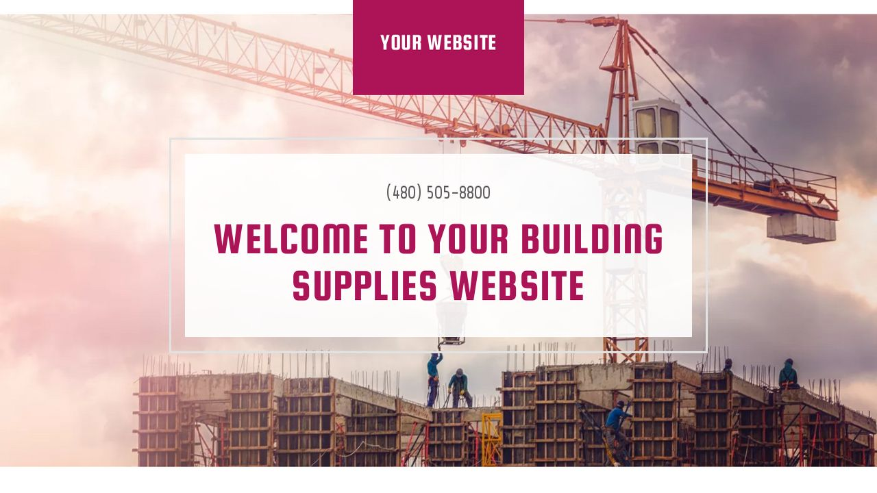 Building Supplies Website: Example 5
