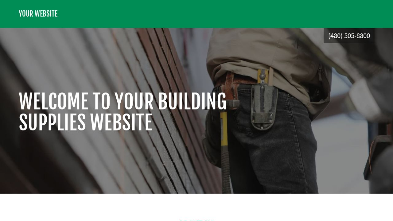 Building Supplies Website: Example 6