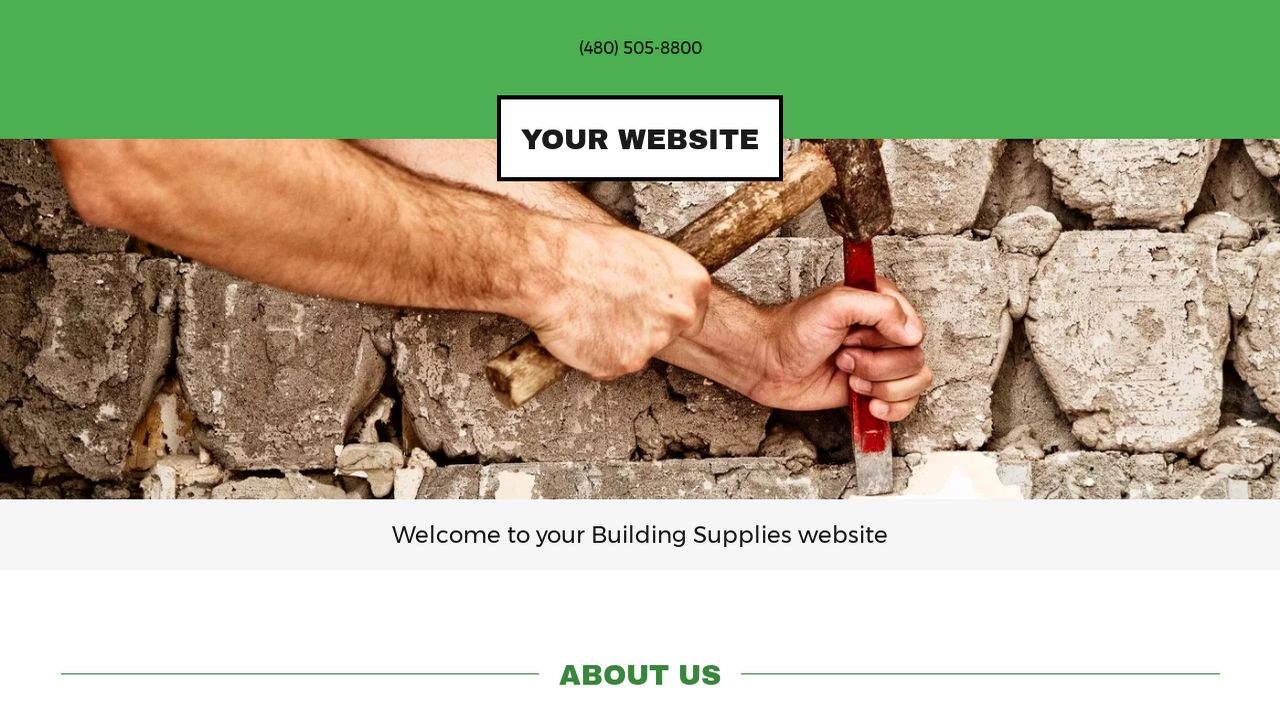 Building Supplies Website: Example 7