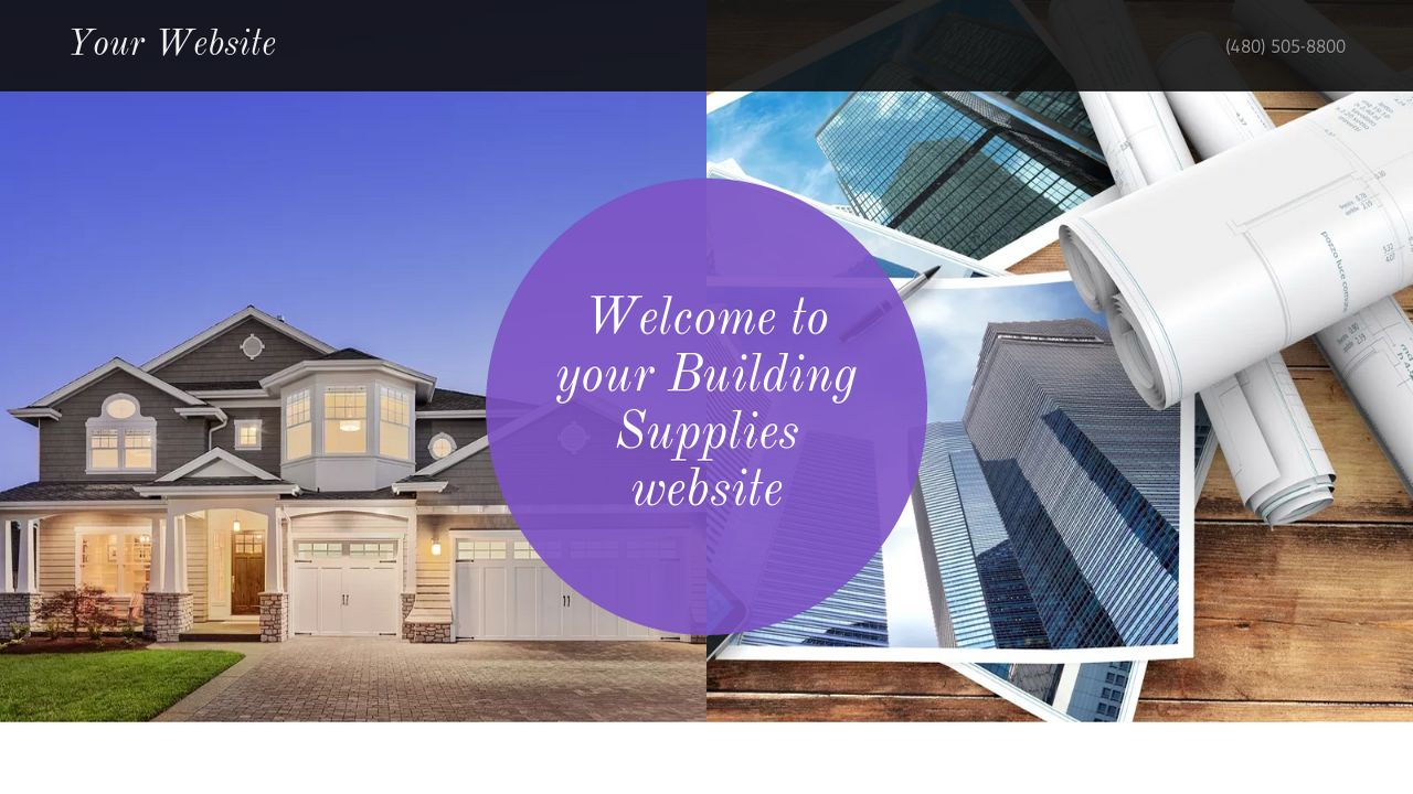 Building Supplies Website: Example 8