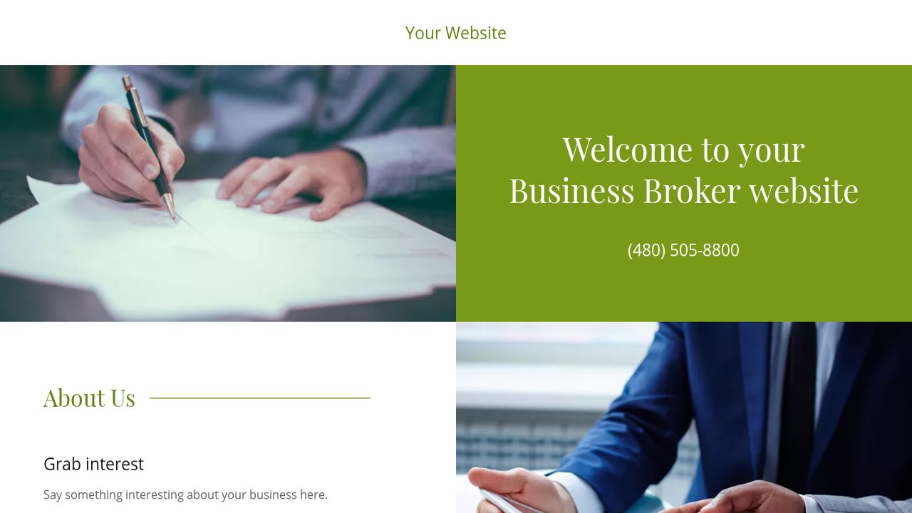 Business Broker Website: Example 13