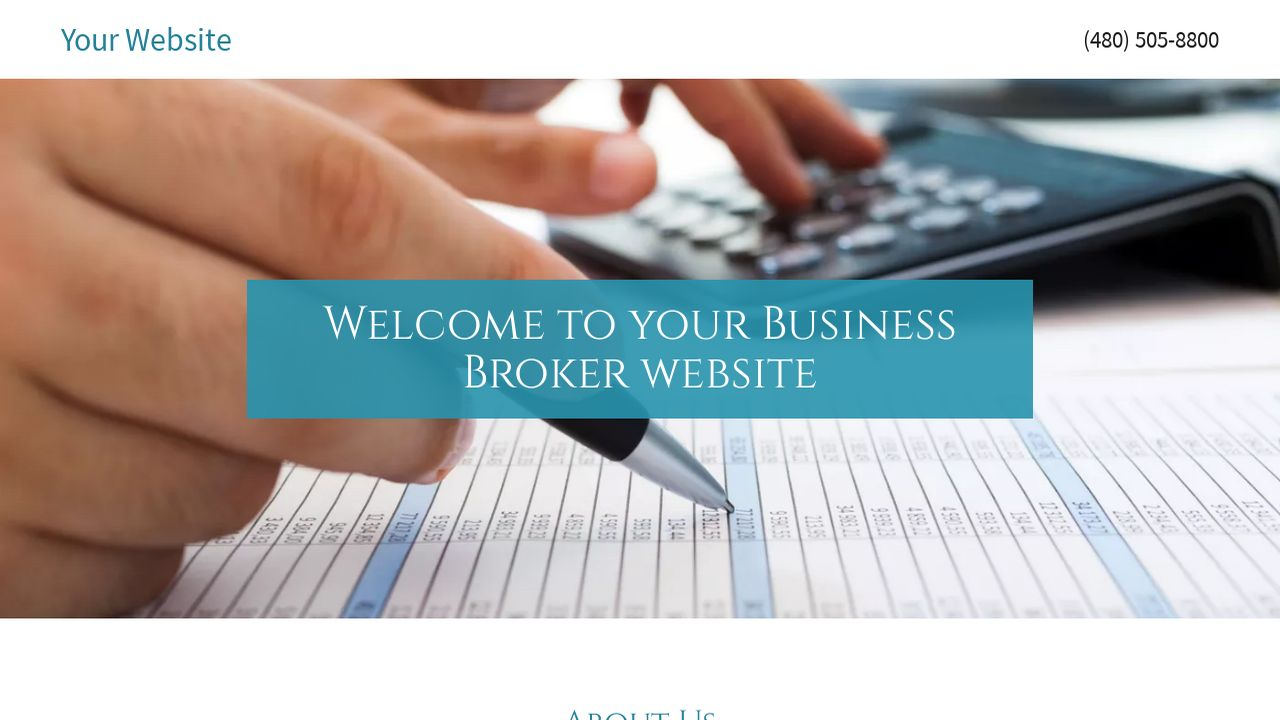 Business Broker Website: Example 5