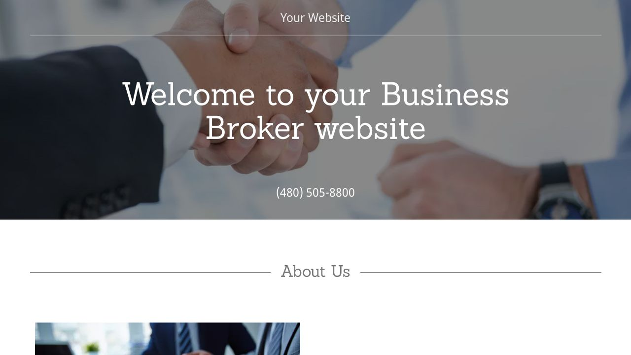 Business Broker Website: Example 9