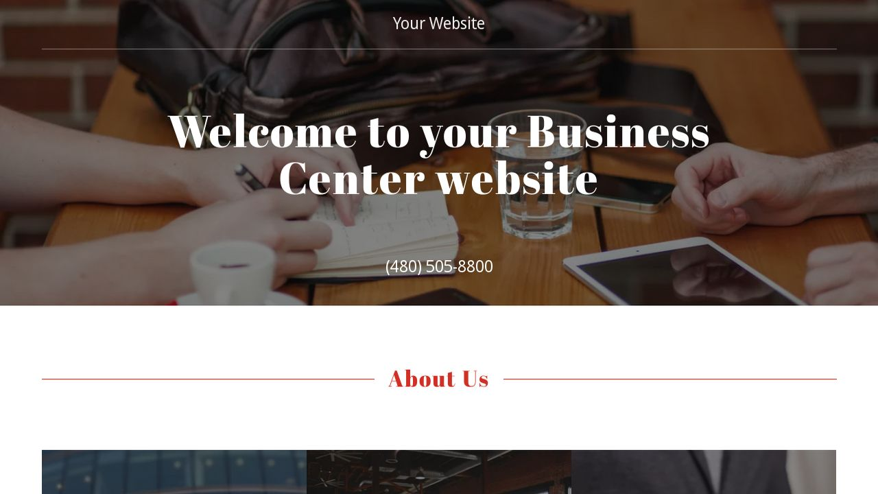 Business Center Website: Example 1