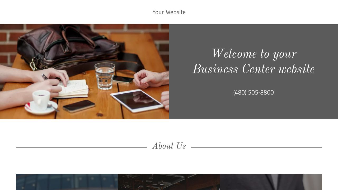 Business Center Website: Example 11