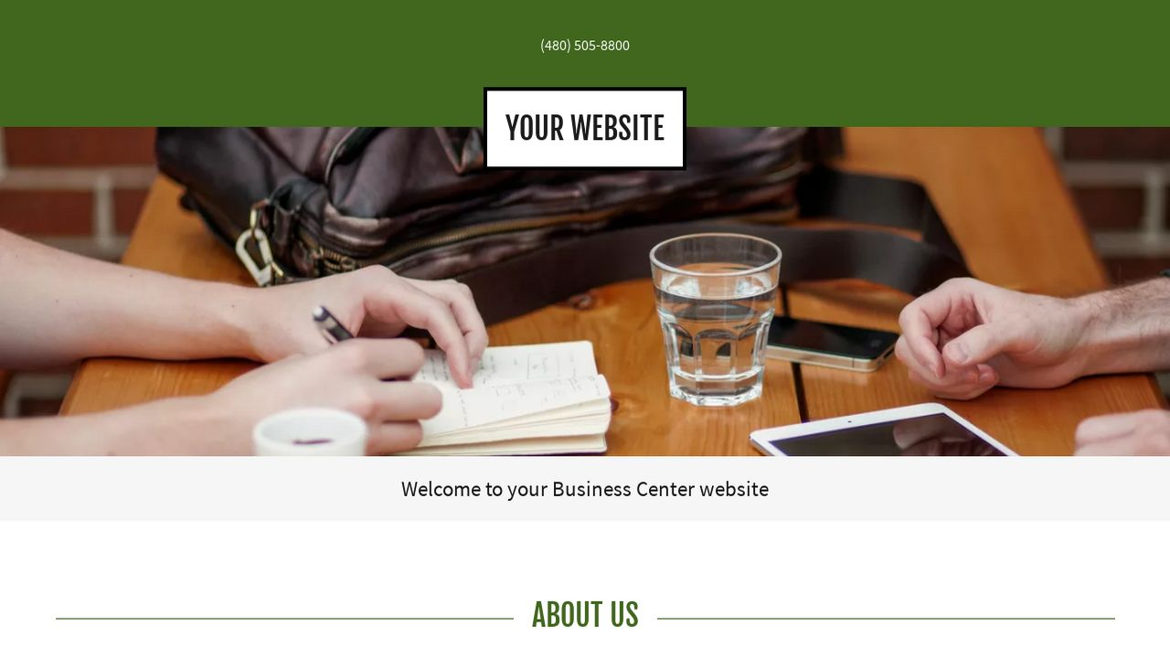 Business Center Website: Example 12