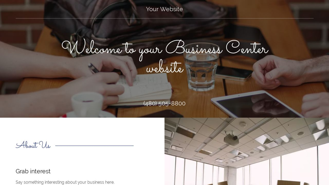 Business Center Website: Example 15