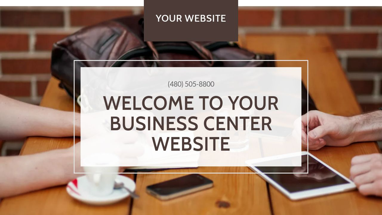 Business Center Website: Example 16