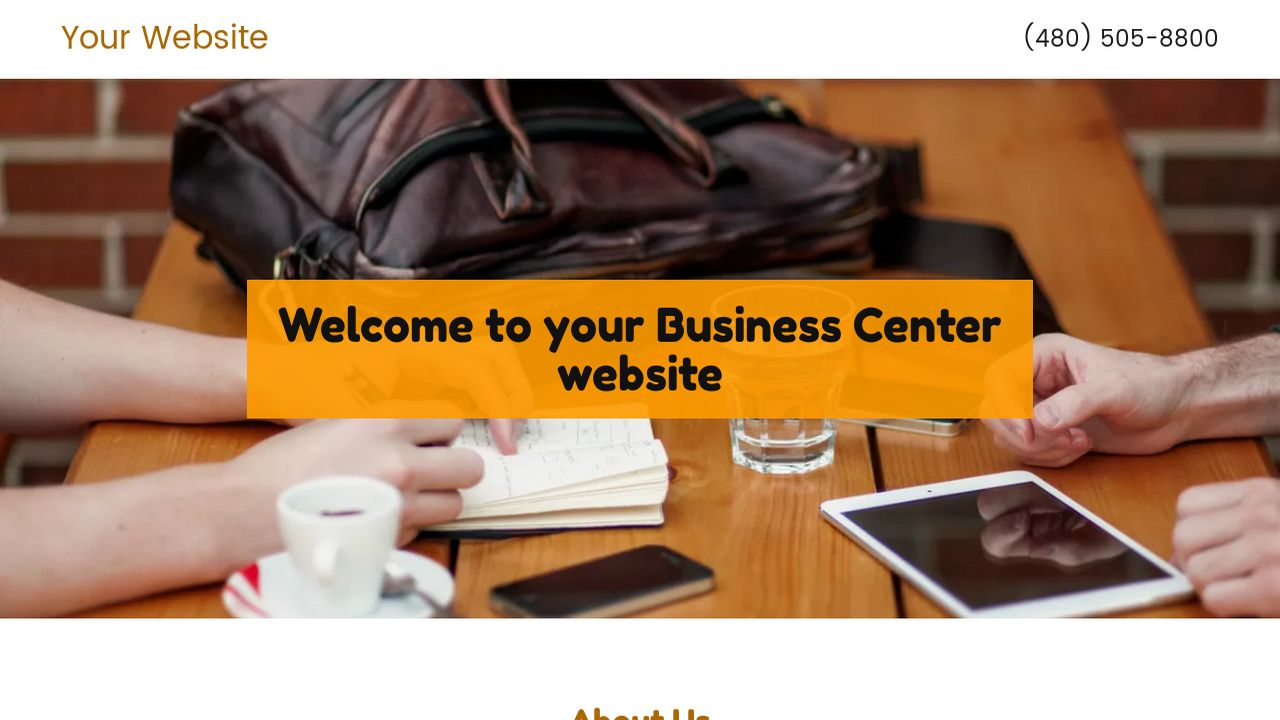 Business Center Website: Example 17