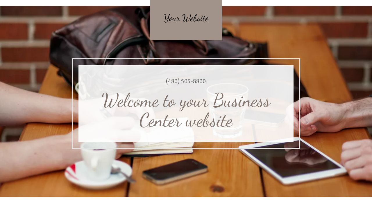 Business Center Website: Example 2