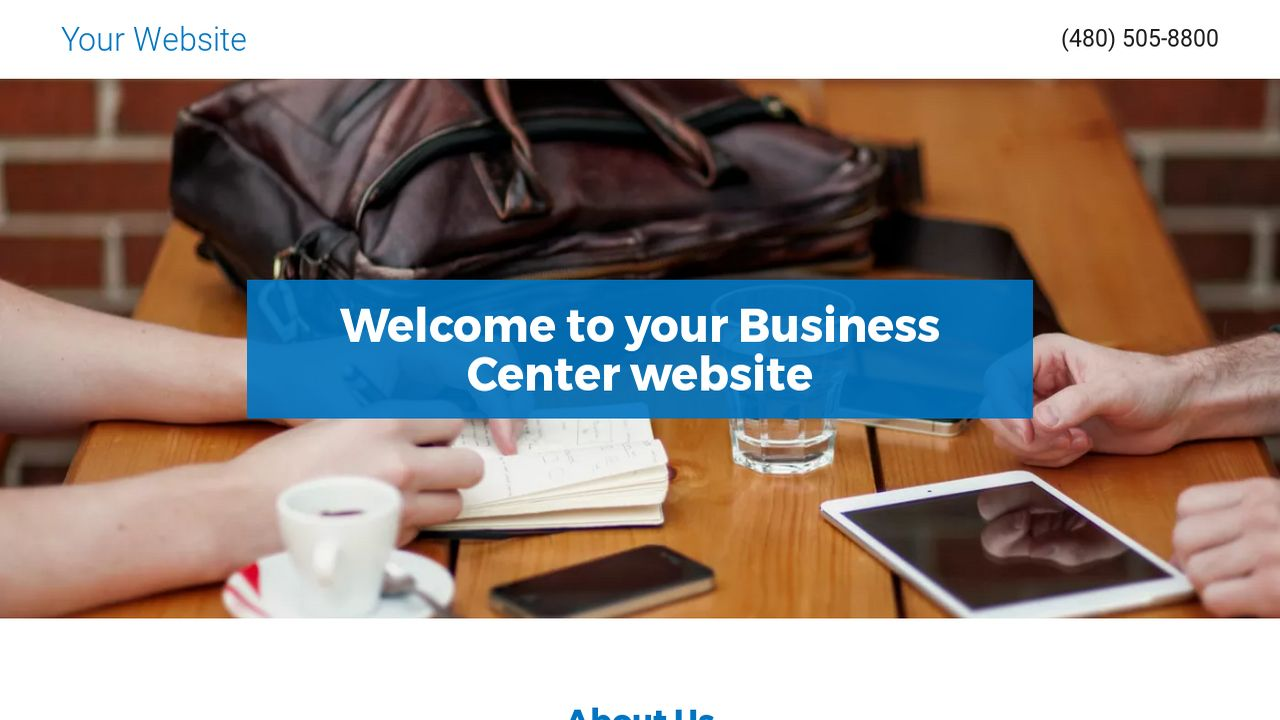 Business Center Website: Example 3