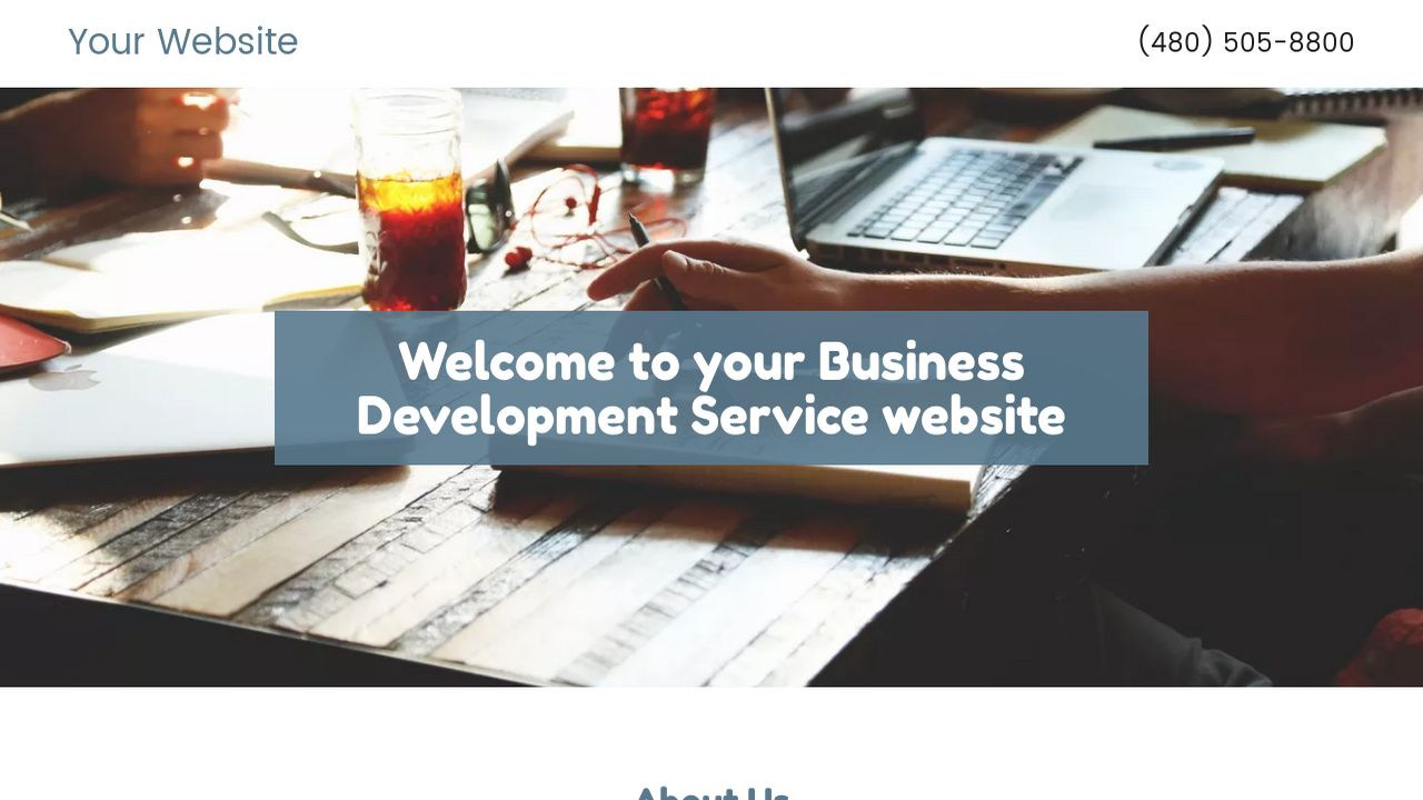 Business Development Service Website: Example 15