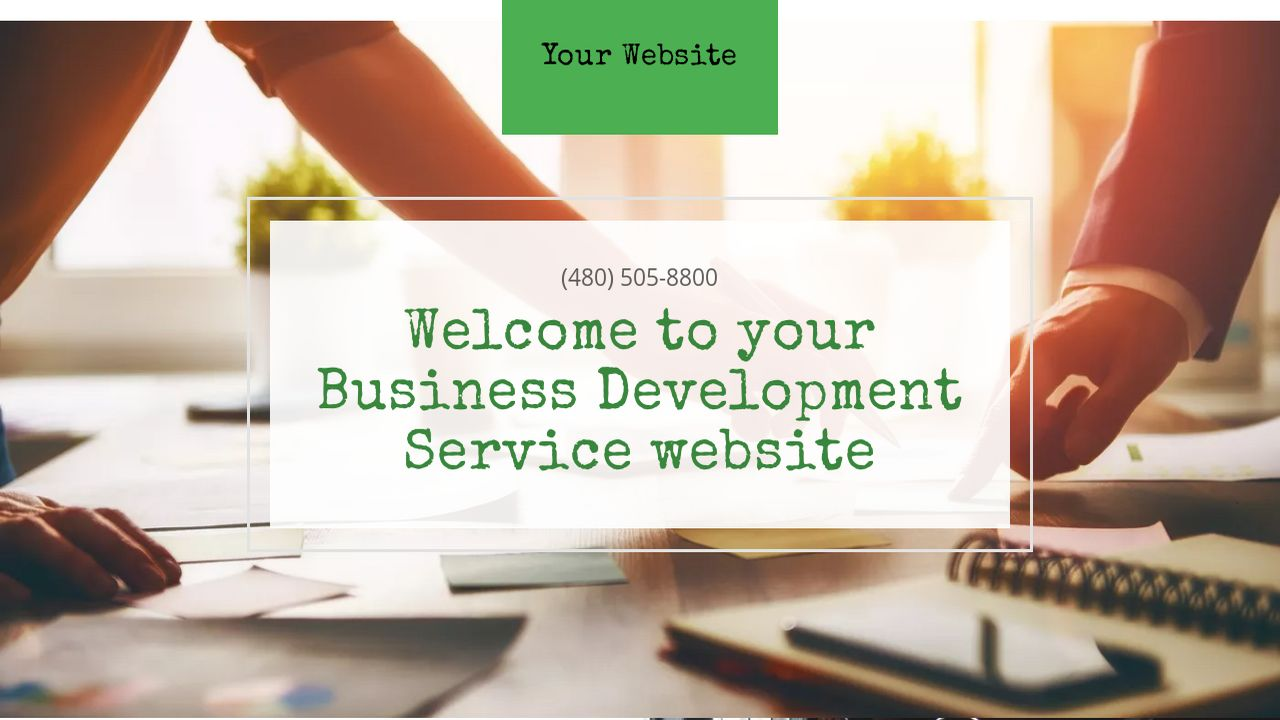 Business Development Service Website: Example 17