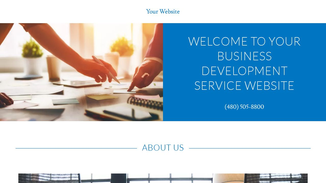Business Development Service Website: Example 18