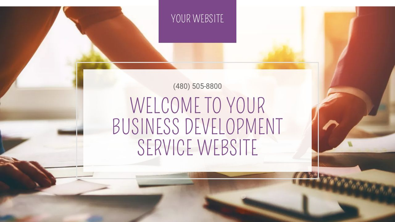 Business Development Service Website: Example 3